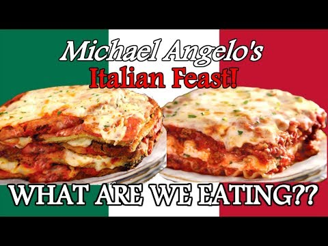 Michael Angelo's Frozen Italian Dinners – BEST EVER?? – WHAT ARE WE EATING??