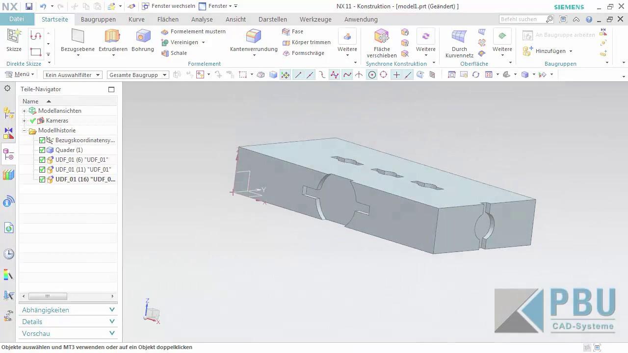Vorschaubild: NX Tutorial: Die Vorteile von benutzerdefinierten Formelementen