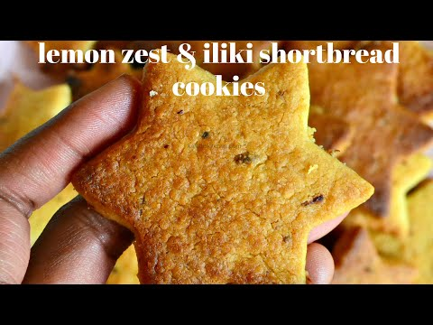 LEMON ZEST & ILIKI SHORT BREAD COOKIES   KALUHI'S KITCHEN