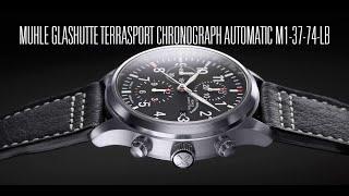 Muhle Glashutte Terrasport Chronograph Automatic M1-37-74-LB unboxing e review | Valjoux Relogios