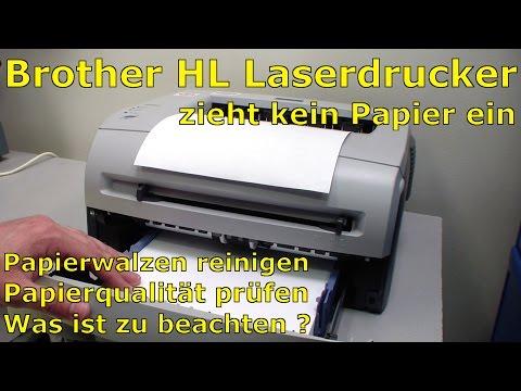 Brother HL Laserdrucker Probleme beim Papiereinzug - kein Papiereinzug aus dem Papierkassette