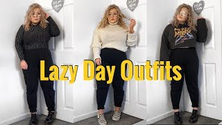 LAZY DAY OUTFITS / HOW I STYLE JOGGERS  - PLUS SIZE CLOTHING