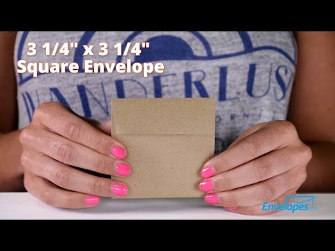 3 1/4 x 3 1/4 Square Envelopes
