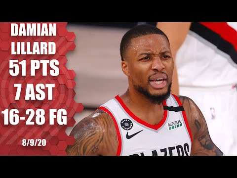 Damian Lillard GOES OFF for 51 points for Blazers vs. 76ers | 2019-20 NBA Highlights