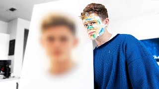 I Painted My Face Using Only My Face
