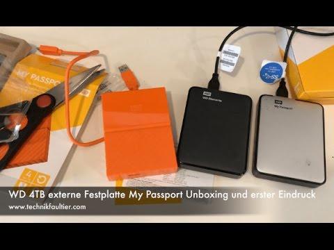 WD 4TB externe Festplatte My Passport Unboxing und erster Eindruck