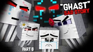 Monster School : Enderman's Life Part 8 with GHAST's Life - BEST Minecraft Animation