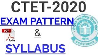 CTET 2019 SYLLABUS & PATTERN CTET 2019 का पेटर्न और Syllabus