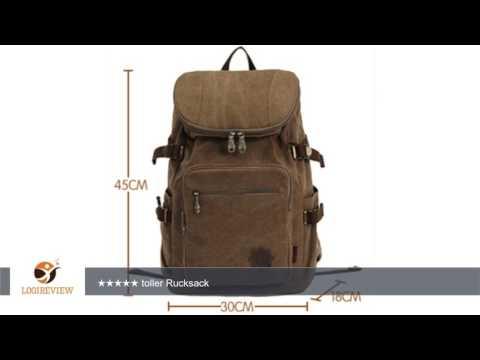Smarstar Canvas Damen und Herren Unisex Modisch Rucksack Daypack Rucksack Reisen Schule Tasche