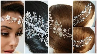 Top Stylish Vine Pearls Beads Bridal Hair Accessories Design For Girls