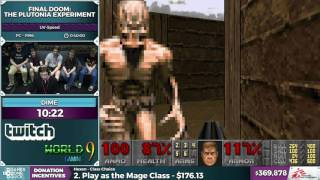 Final Doom: The Plutonia Experiment by Dime in 0:30:59 - SGDQ2016 - Part 97