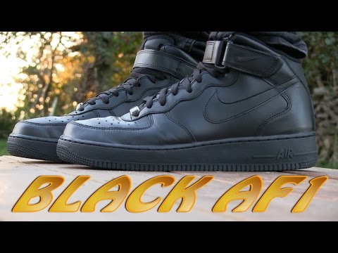 Nike Air Force 1 Mid '07 (Black) - On Feet