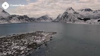 ???? Winter Landscape Stock Footage | DJI Phantom 4 4K Royalty free stock video footage
