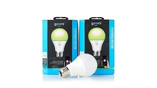 2pack Geeni Prisma 450 Smart WiFi LED Color Smart Bulbs