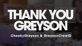 Грейсон Ченс, THANK YOU GREYSON!