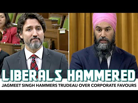 Jagmeet Singh Hammers Trudeau Over Corporate Favours During Pandemic
