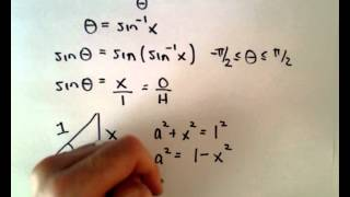 Inverse Trigonometric Functions , Part 4 (Simplify Expression Using Right Triangle)