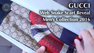 Gucci Web Snake Scarf For Mens 2016 Collection