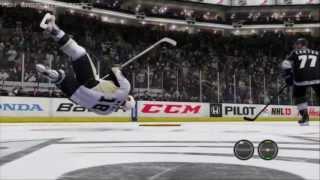 NHL HITZ 2013 - NHL 13 Glitch and Crazy Hits!