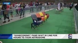Domecoming: Fans wait in line for hours to tour Astrodome