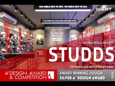 STUDDS Retail Store Design by Dartpvtltd