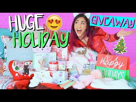 HUGE HOLIDAY GIVEAWAY + GIFT GUIDE 2017!!
