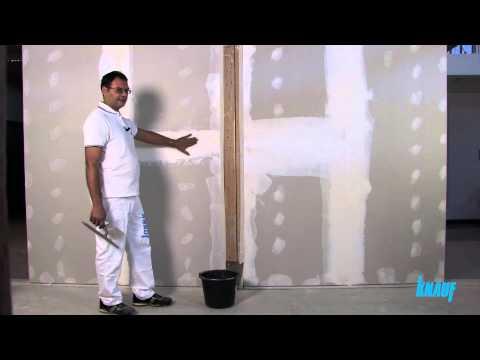 Knauf: cartongesso, corso online di stuccatura