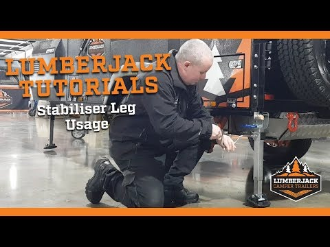 How To Operate The Stabiliser Legs