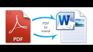 How To Convert PDF File To Microsoft Word File  In Hindi/Urdu