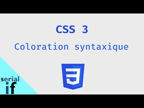 CSS 3 et Javascript - Coloration Syntaxique