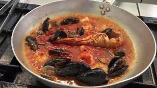 Grande cucina al Ristorante Continental di Lignano Pineta: Spaghetti allo scoglio