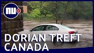 Orkaan Dorian zet auto's onder water in Canada | NU.nl