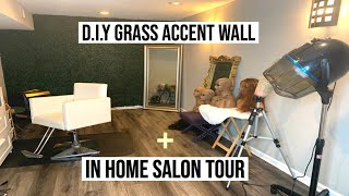 QUARANTINED| DIY Grass Wall + In Home Salon Tour