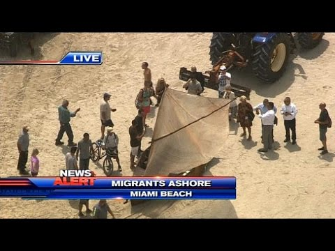 Illegal Immigrants from Cuba arrive on Florida shores