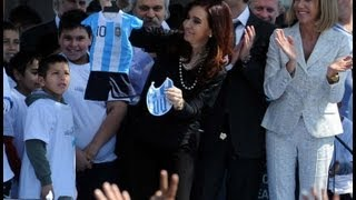 preview picture of video '20 de SEP. Inauguración polo industrial cooperativo Argentina Trabaja en Ezeiza.Cristina Fernández'