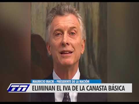 Macri anunció la eliminación del IVA