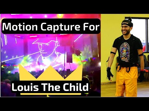 I got to do motion capture for one of my favorite bands, Louis The Child! My brother edited this together with live performances!