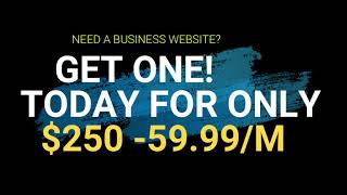 GET A WEBSITE FOR ONLY $250