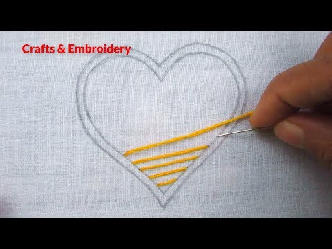 Hand Embroidery, Easy hand embroidery, Love embroidery
