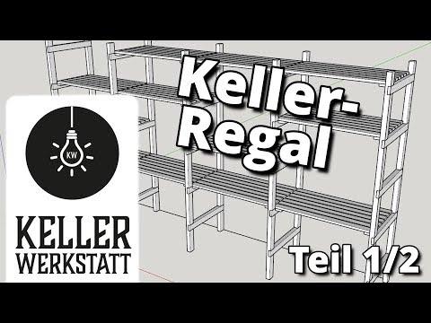 Kellerregal, schnell selber gebaut Teil 1/2|Kellerwerkstatt