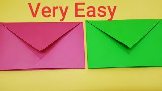 How To Make Paper Envelope -No Glue Or Tape, Very Easy DIY