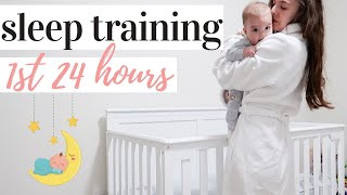 FIRST 24 HOURS OF SLEEP TRAINING | FERBER METHOD | KAYLA BUELL