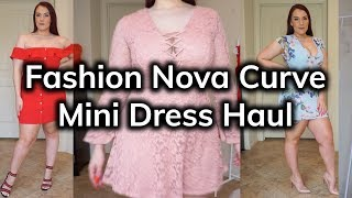 Fashion Nova Curve Summertime Mini Dress Try-On Haul | Ruby Red