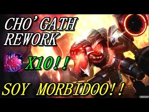 CHO'GATH REWORK I 10 CARGAS Y OCUPAS MEDIA PANTALLA!! LATE GAME INSANO!!
