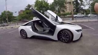 Мини обзор BMW i8 снаружи и внутри. 360 вокруг машины