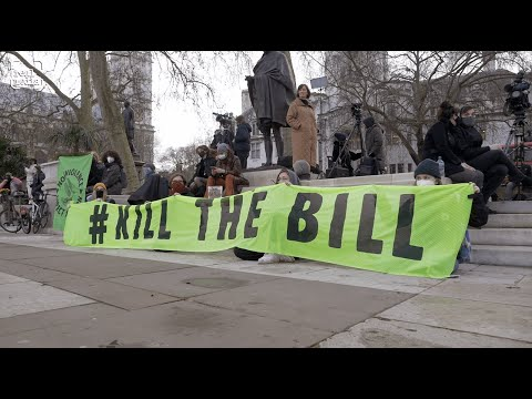 Kill The Bill - Police Crime Courts and Sentencing Bill protest