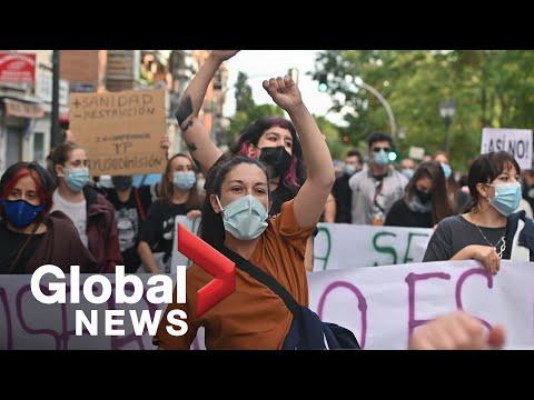 Protest gegen Madrids Corona-Politik