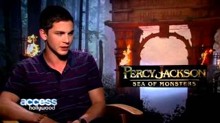 Logan Lerman Reacts To Selena Gomez's Crush Revelation on E! Special With Ryan Seacrest