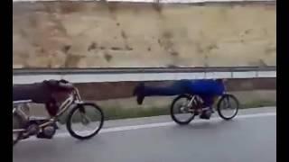 pejo ve mobilet yarışı  peugeot ve mobylette otoban polini gilardoni  zozi motor