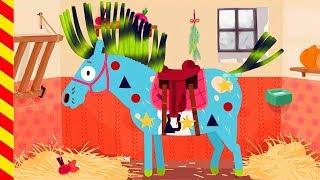 Мультики для девочек 5 лет. Украшаем лошадь. Мультфильм про Пони.